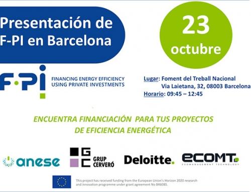 El Proyecto F-PI para la financiación de eficiencia energética con fondos privados llega a Barcelona