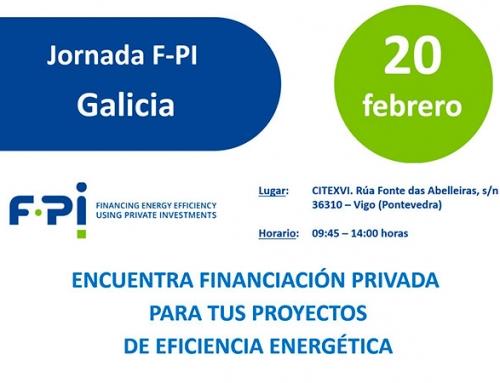 El Proyecto F-PI para la financiación de instalaciones de eficiencia energética con fondos privados llega a Galicia